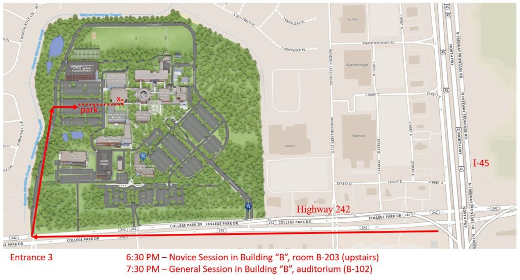 Map to the Lone Star College – Montgomery Campus | North Houston ...