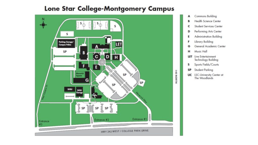 Map To The Lone Star College Montgomery Campus North Houston